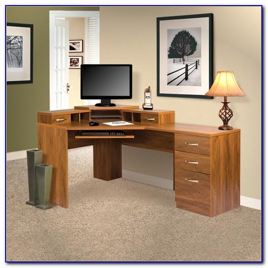 Home Office Corner Desks With Hutch