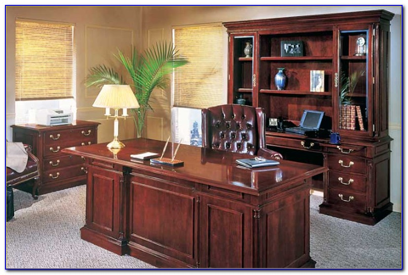 Home Office Desk With Credenza