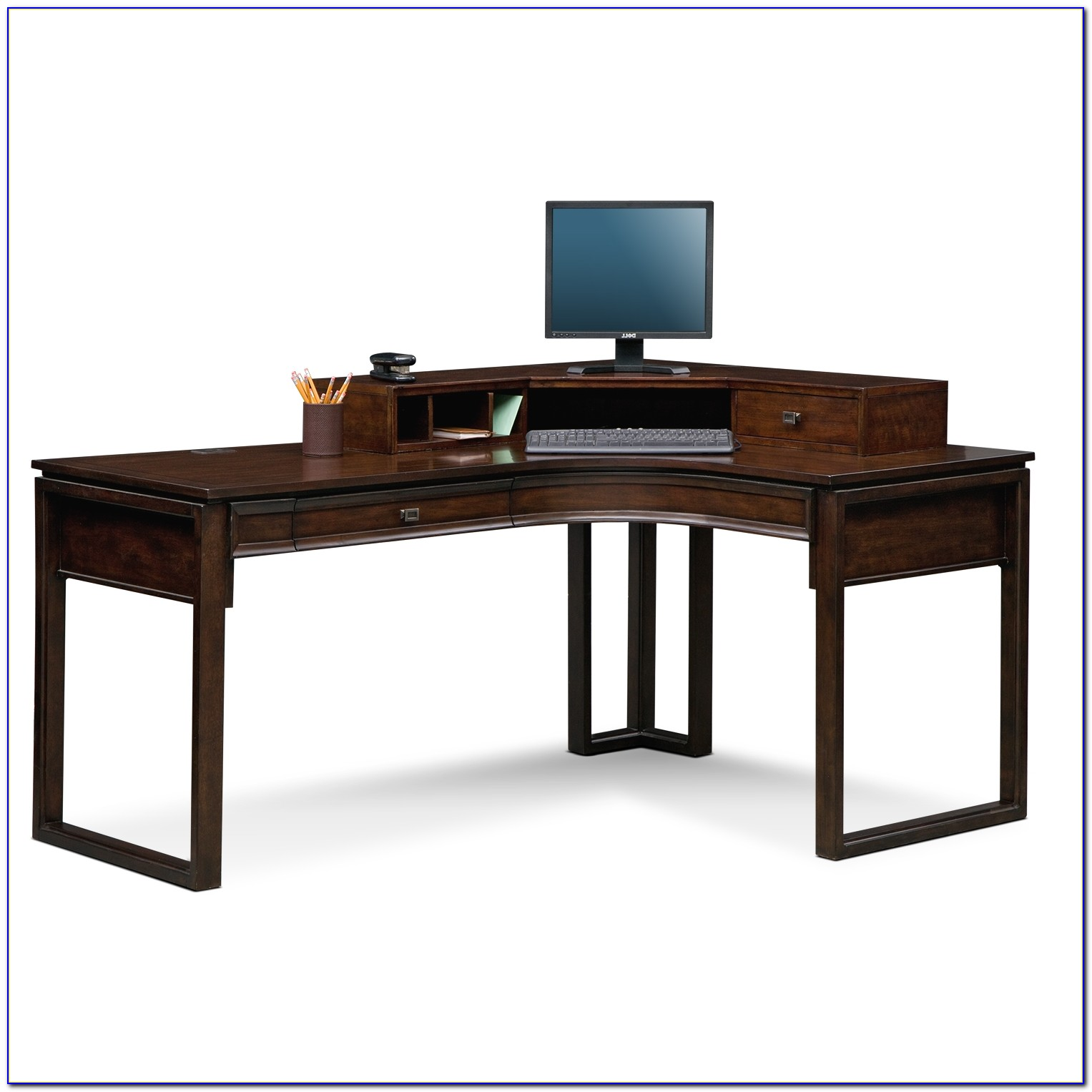 Home Office L Shaped Desk With Hutch