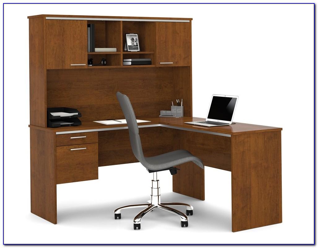 L Shaped Computer Desk Hutch