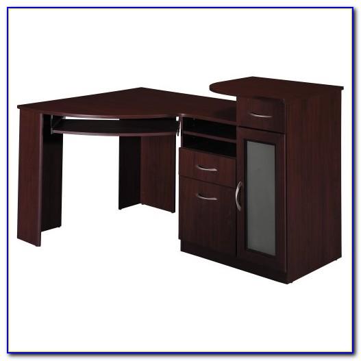 L Shaped Corner Desk With File Cabinet Espresso