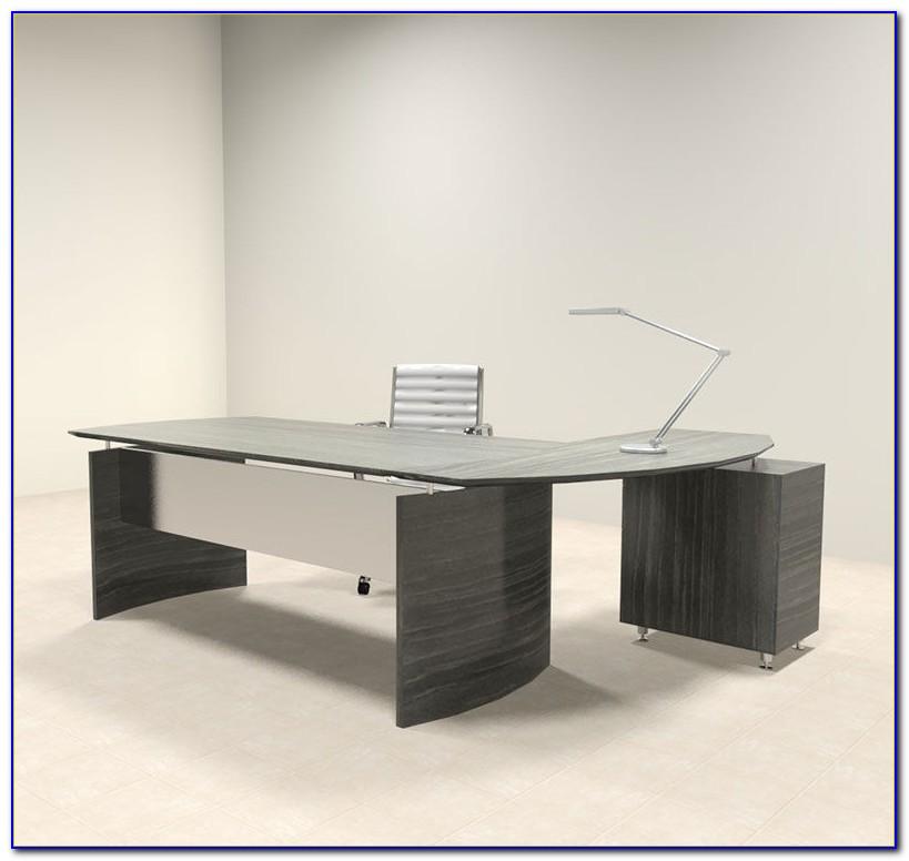 L Shaped Executive Desk White