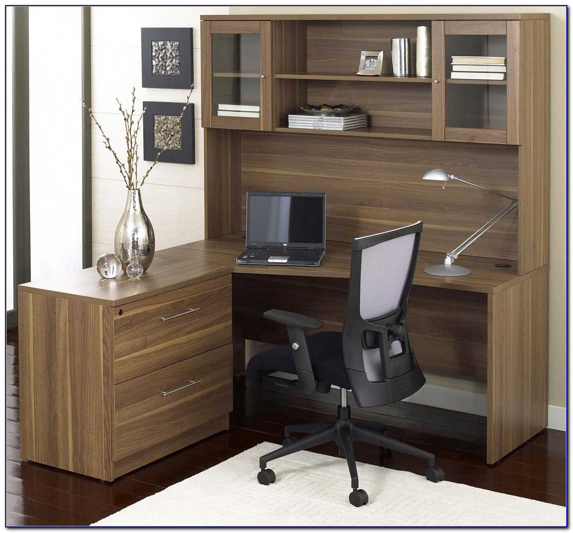 L Shaped Home Office Desk With Hutch