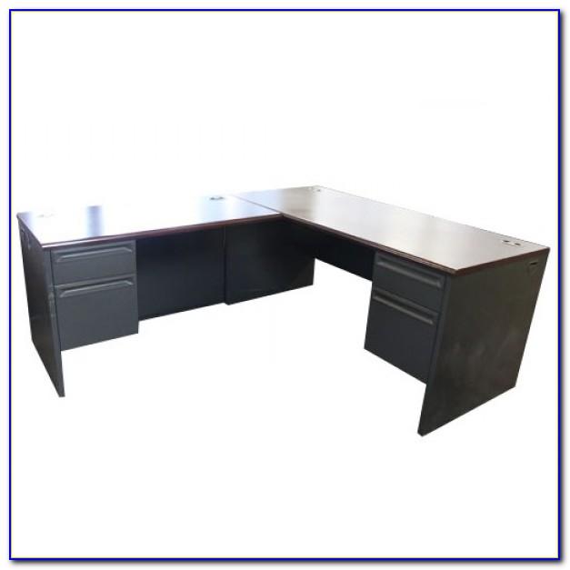 L Shaped Mahogany Desk By Techni Mobili