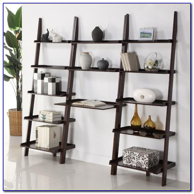 Ladder Shelf With Desk