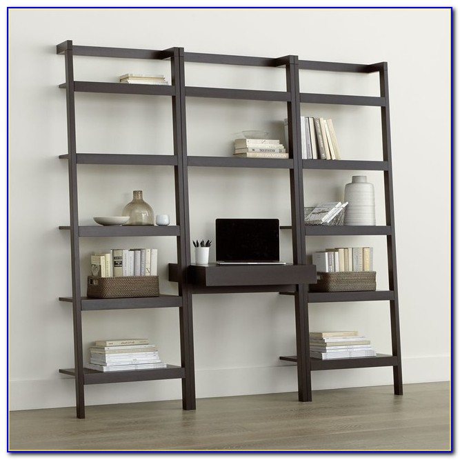 Leaning Bookcase With Desk