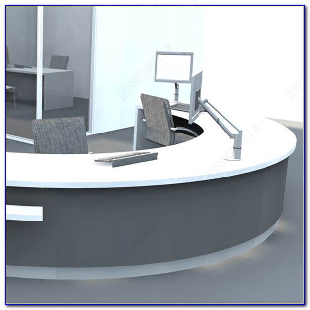 Luna Stylish Semi Circular Reception Desk Glass