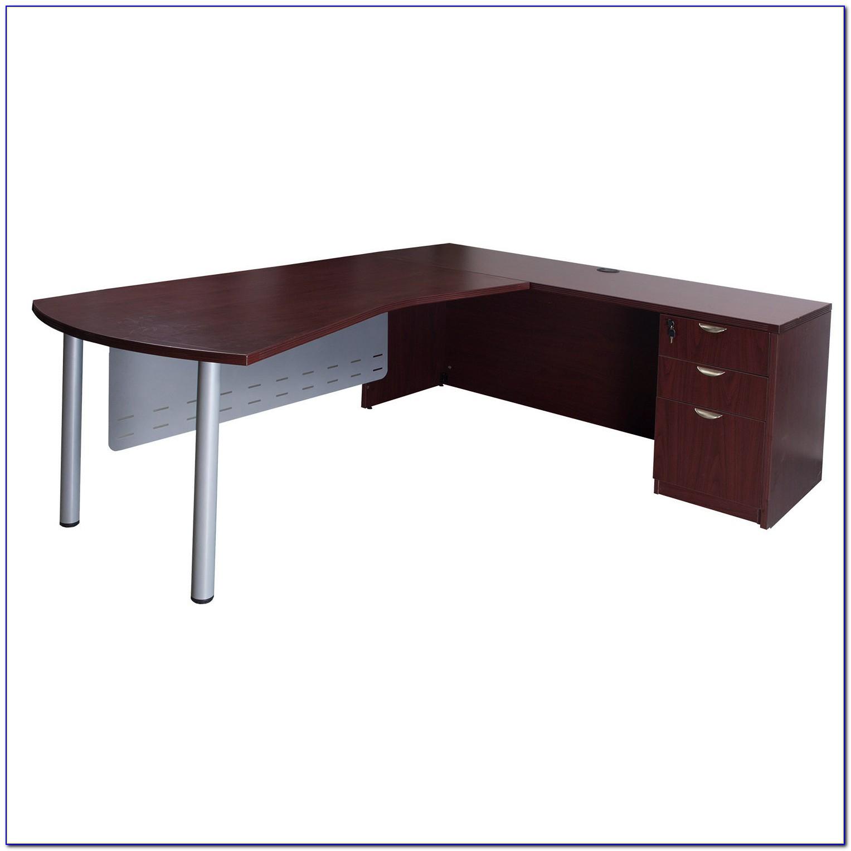 Mahogany L Shaped Corner Computer Desk