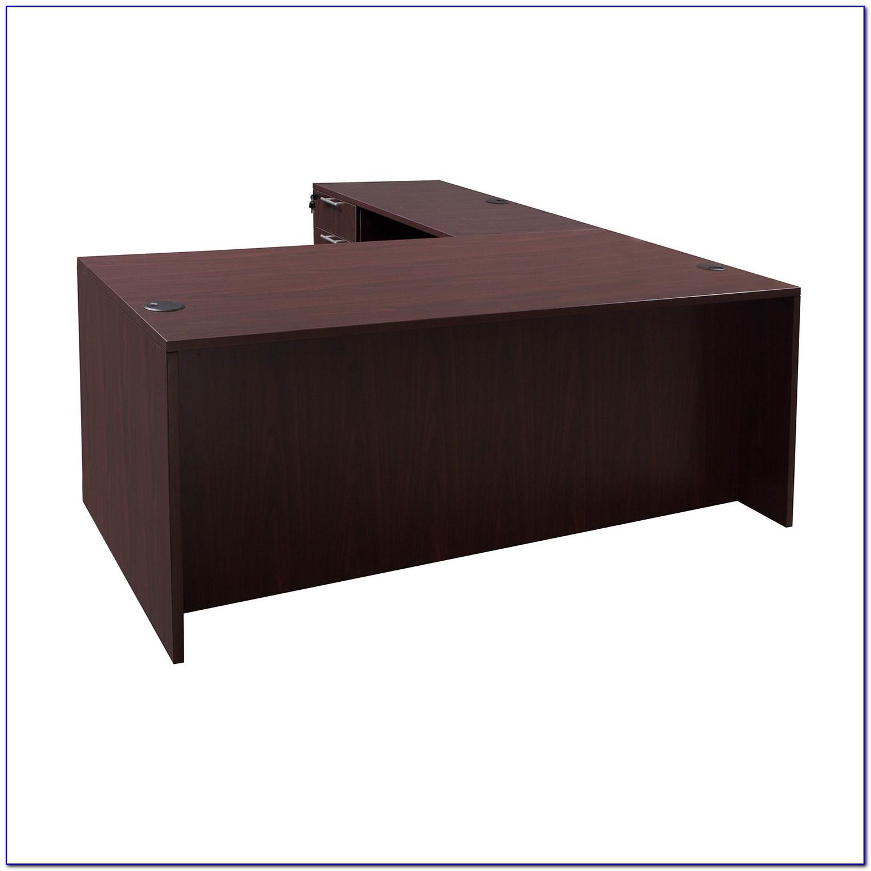Mahogany L Shaped Executive Desk