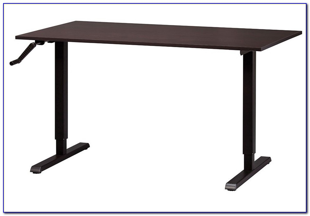 Manual Crank Height Adjustable Desk