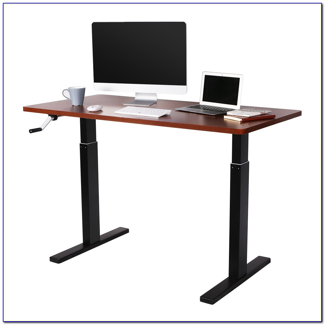 Manual Height Adjustable Computer Desk
