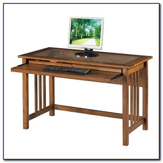 Mission Oak Computer Desk Hutch