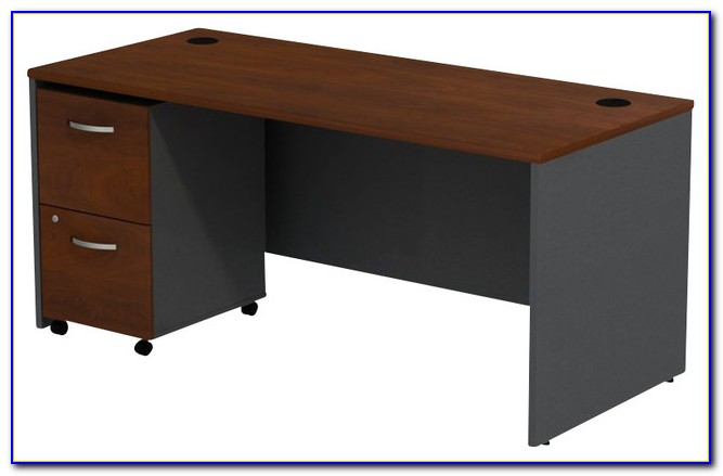 Office Desk With 2 File Drawers