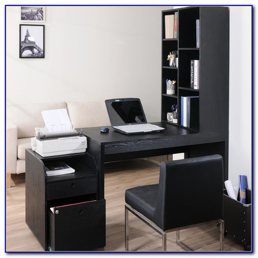 Office Desk With Bookshelf