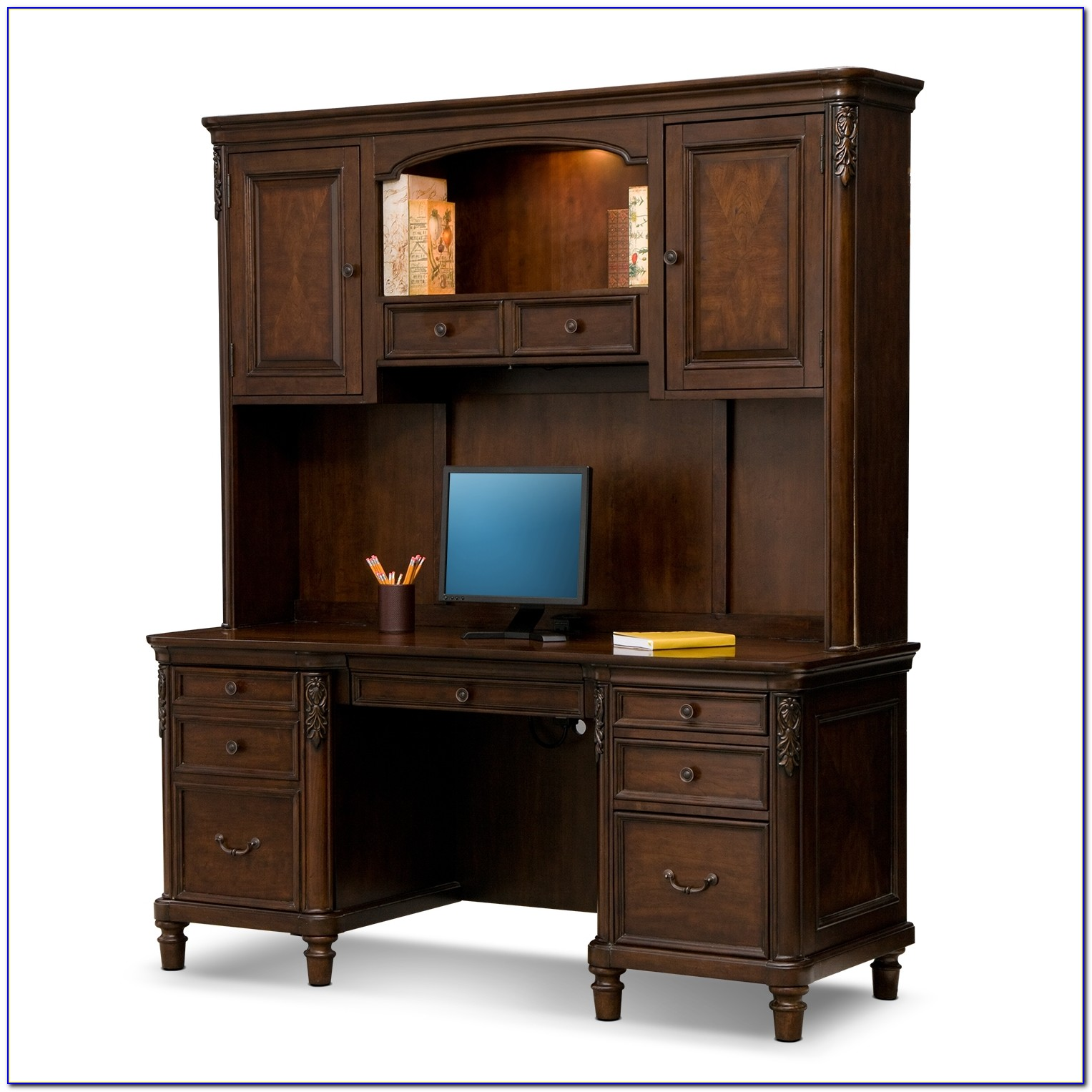 Office Desk With Credenza
