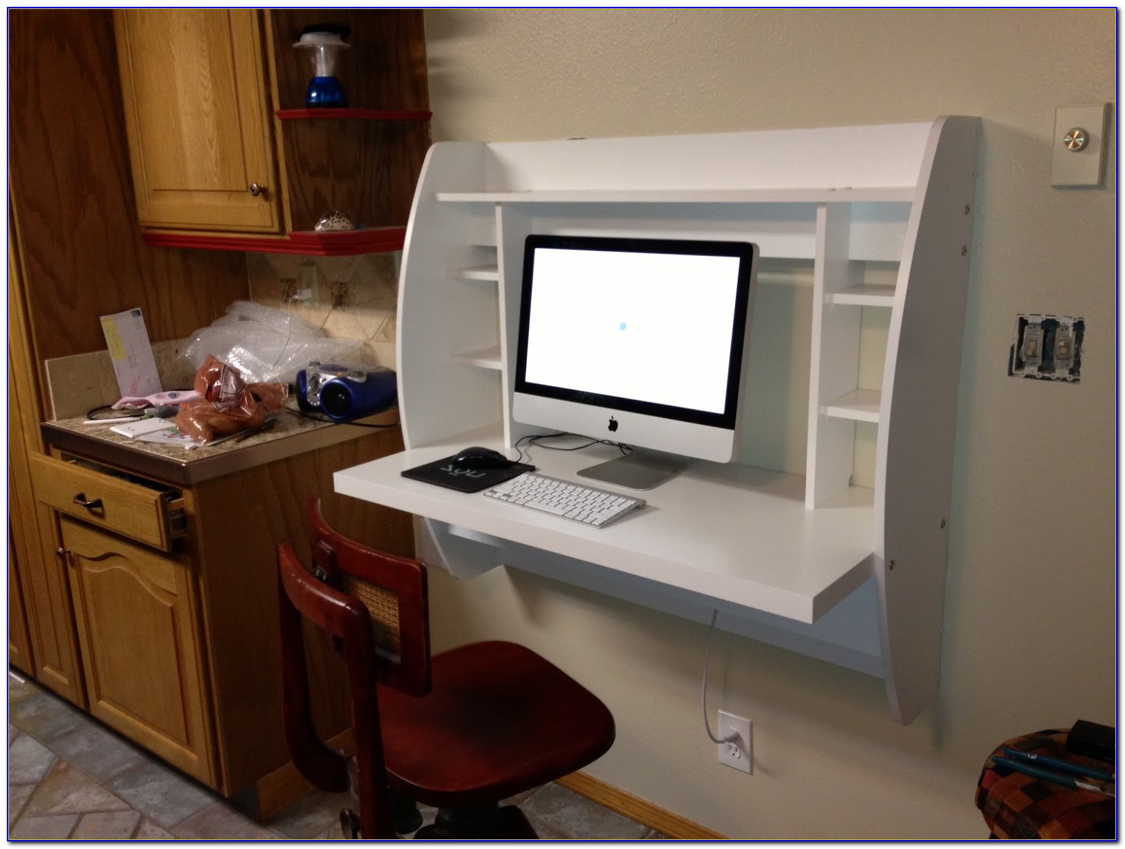 Prepac White Floating Desk With Storage Instructions