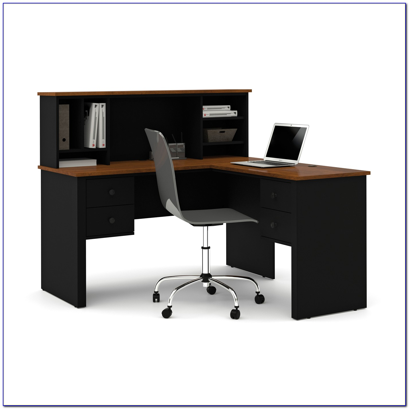Realspace Magellan L Shaped Desk And Hutch