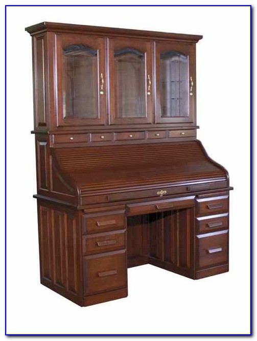 Roll Top Secretary Desk With Hutch