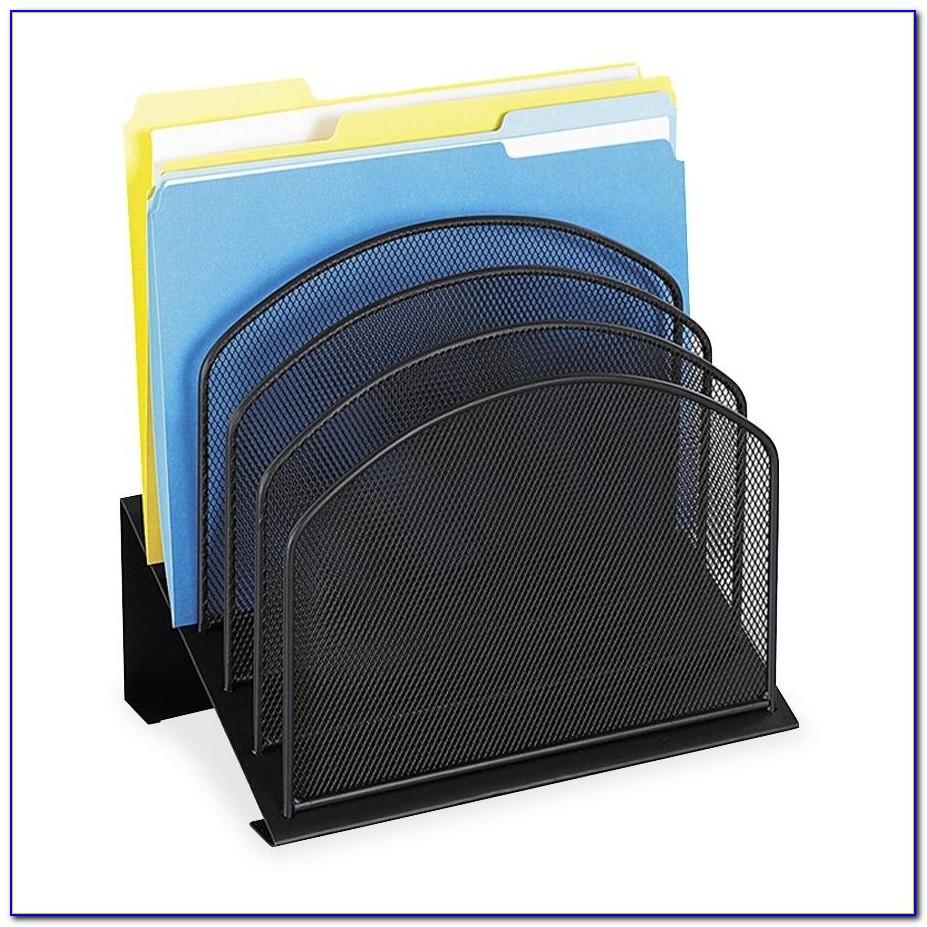Safco Mesh Desk Organizer Steel Black