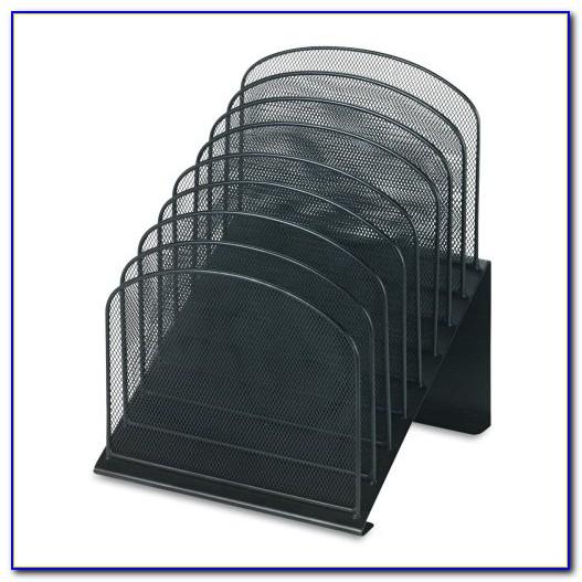 Safco Steel Mesh Desk Organizer 8 Sections Black