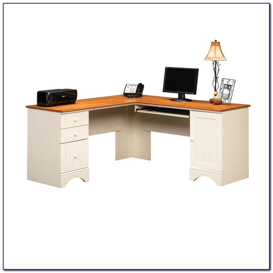 Sauder Antique White Computer Desk