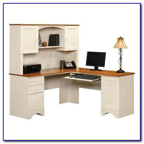 Sauder Corner Desk With Hutch Salt Oak