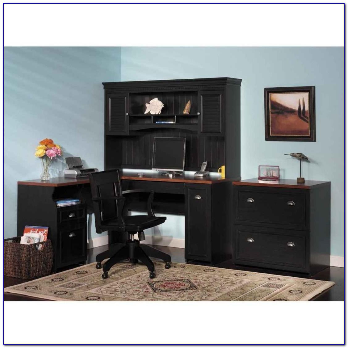 Sauder Cottage Home Computer Desk With Hutch