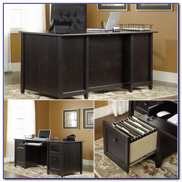 Sauder Edgewater Collection Executive Desk Estate Black