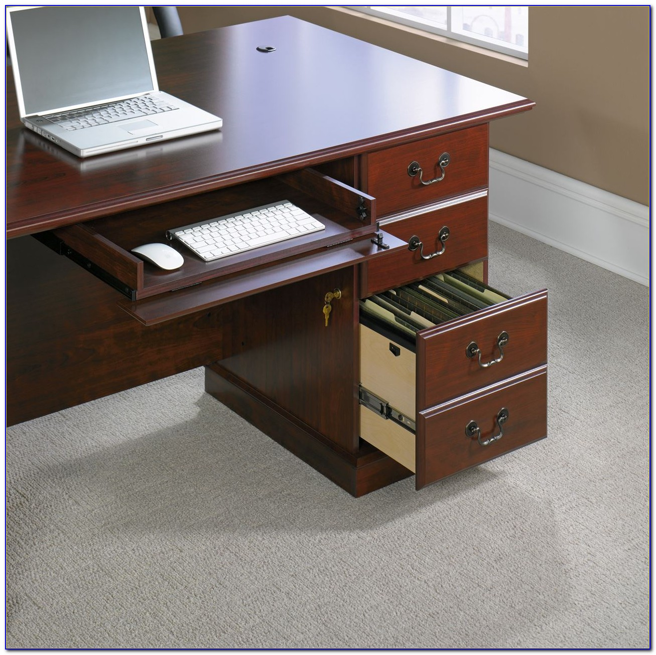 Sauder Heritage Hill Executive Desk Cherry