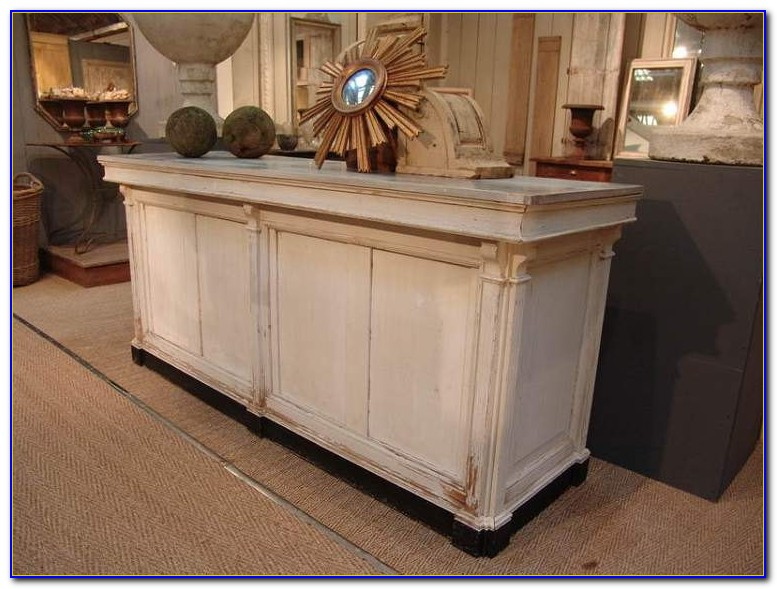 Shabby Chic Curved Reception Desk