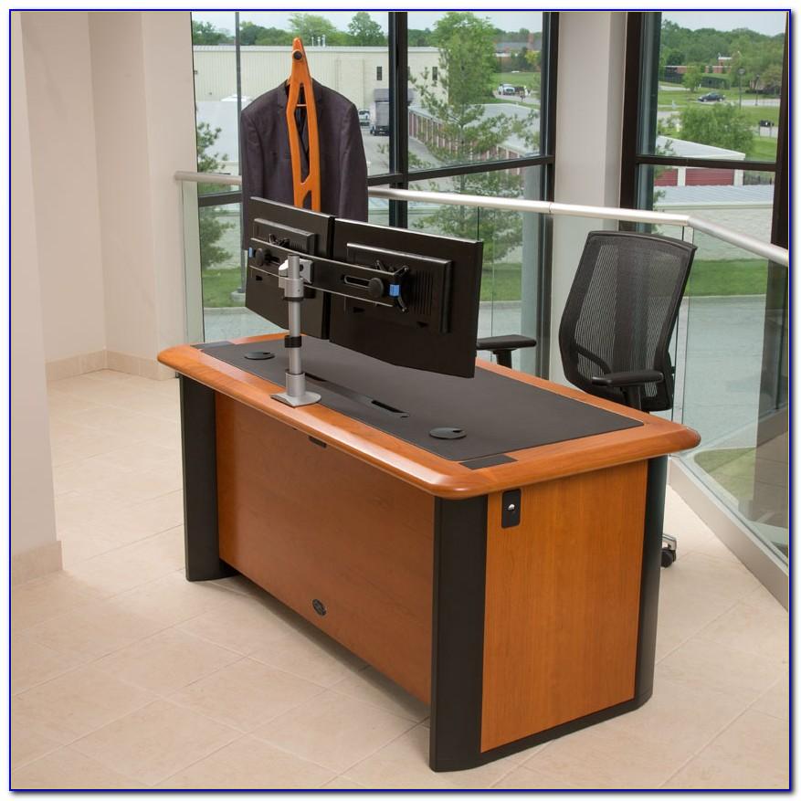Small Computer Desk For Two Monitors