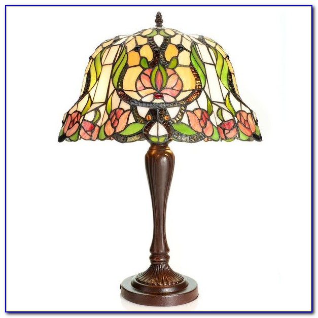 Small Stained Glass Desk Lamp