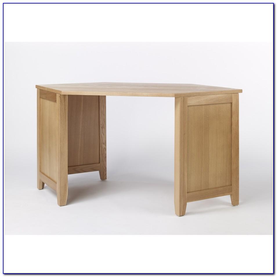 Solid Oak Corner Computer Desk