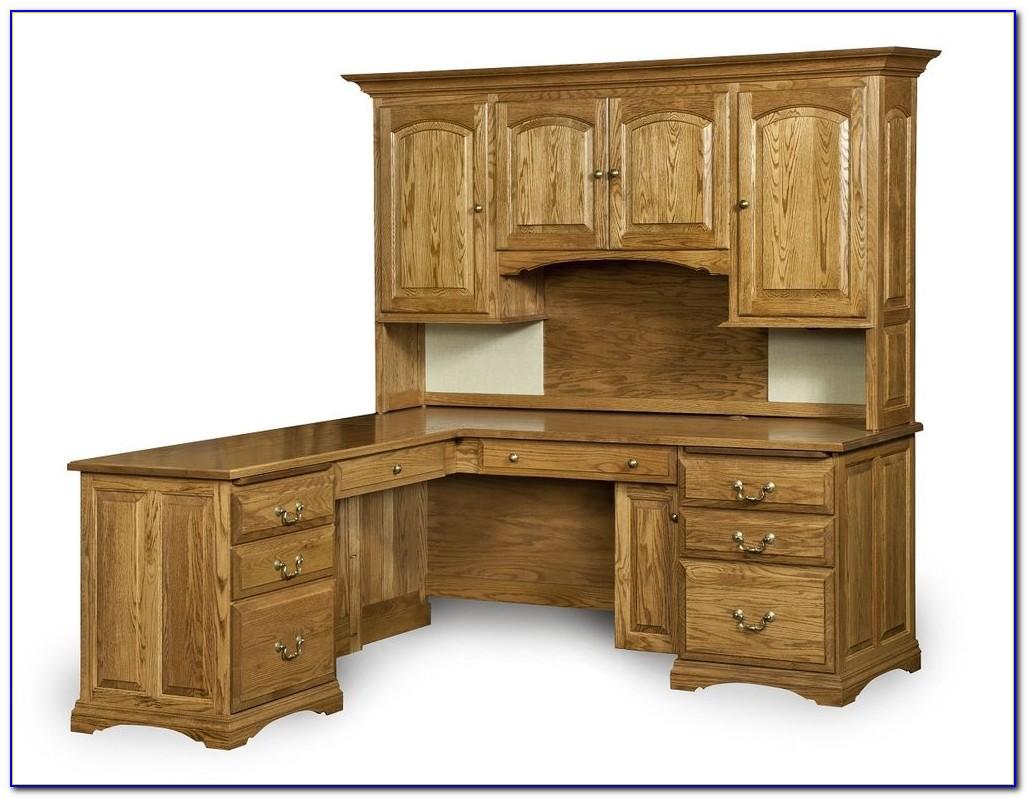 Solid Wood Corner Desk Top
