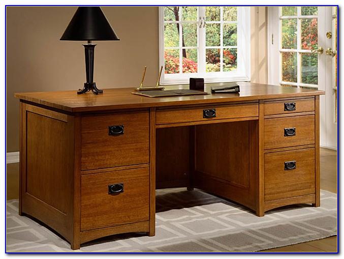 Solid Wood Executive Desk