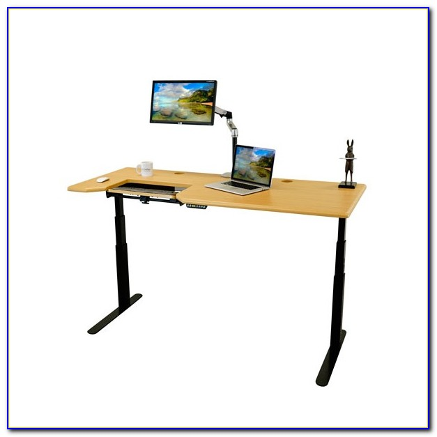 Standing Laptop Desk With Keyboard Tray