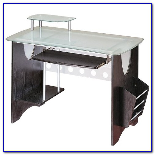Techni Mobili Tempered Glass Computer Desk