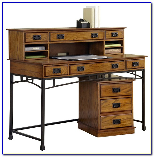 The Orleans Executive Desk Hutch And Mobile File