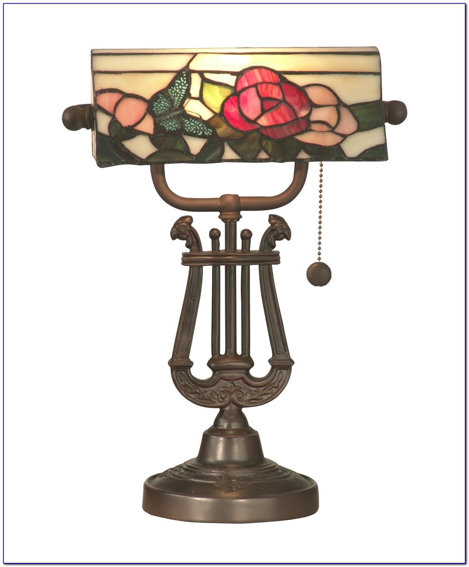Tiffany Style Banker Desk Lamps