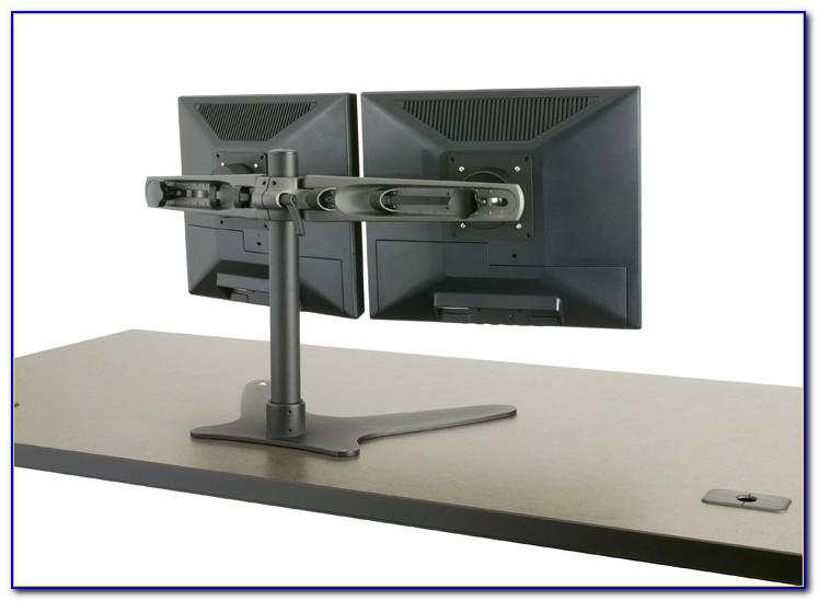 Triple Monitor Freestanding Desk Mount