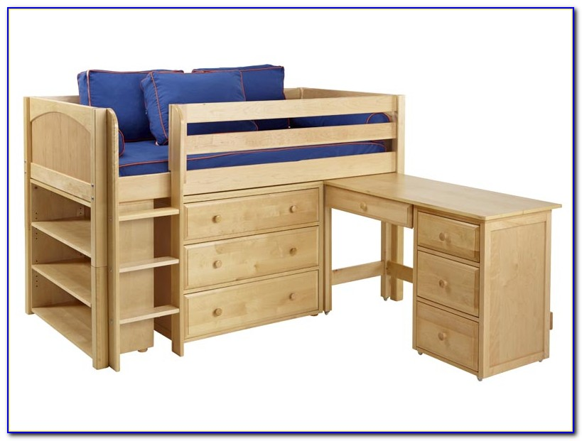 Twin Bed Loft With Desk Plans