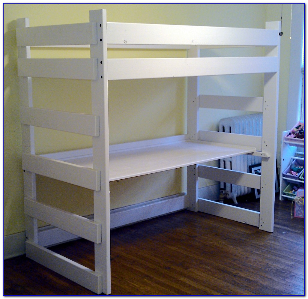 Twin Bunk Bed Desk Combo