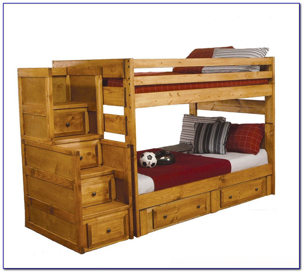 Twin Over Full Bunk Bed With Trundle And Desk
