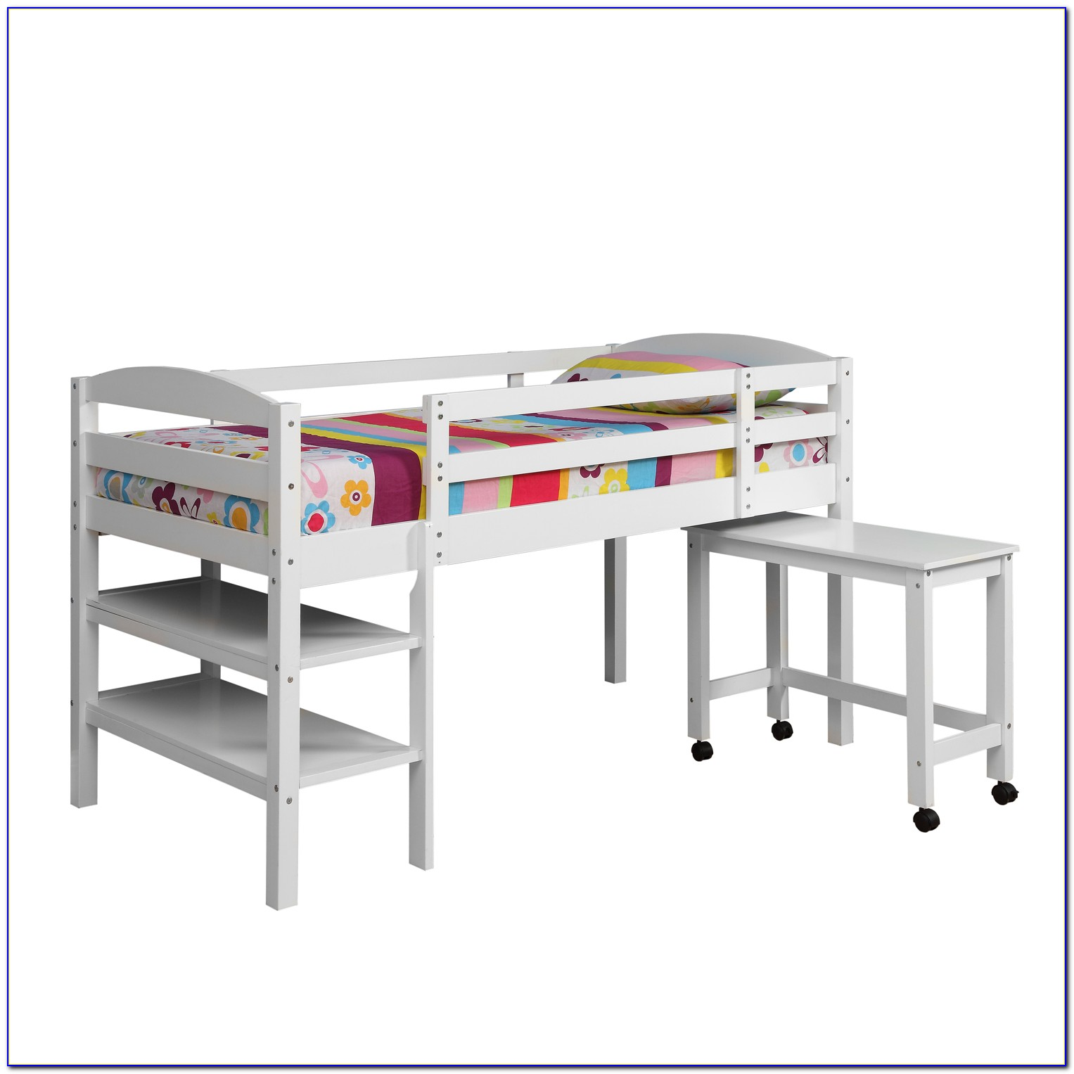 Twin Size Bunk Bed With Desk