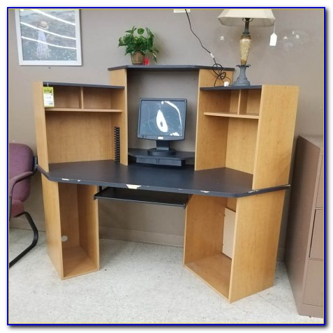 Used L Shaped Computer Desk With Hutch