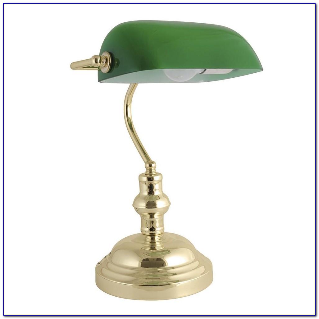 Vintage Green Bankers Desk Lamp