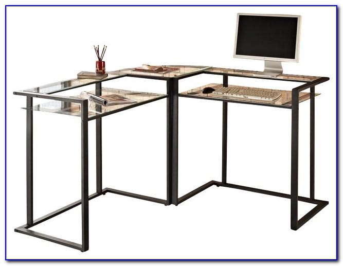 Walker Edison L Shaped Glass Computer Desk