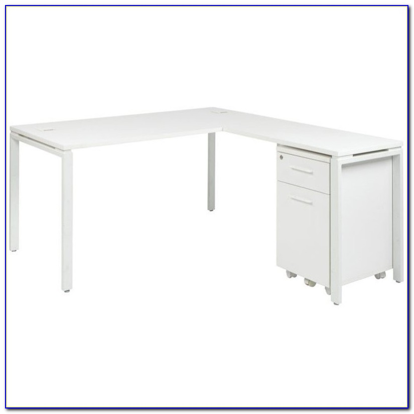 White L Shaped Computer Desk With Hutch
