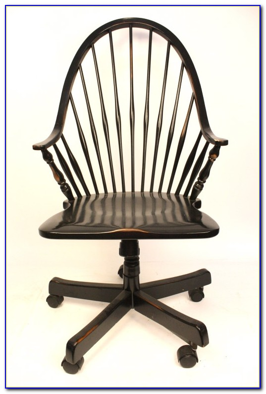 Wood Rolling Office Chair