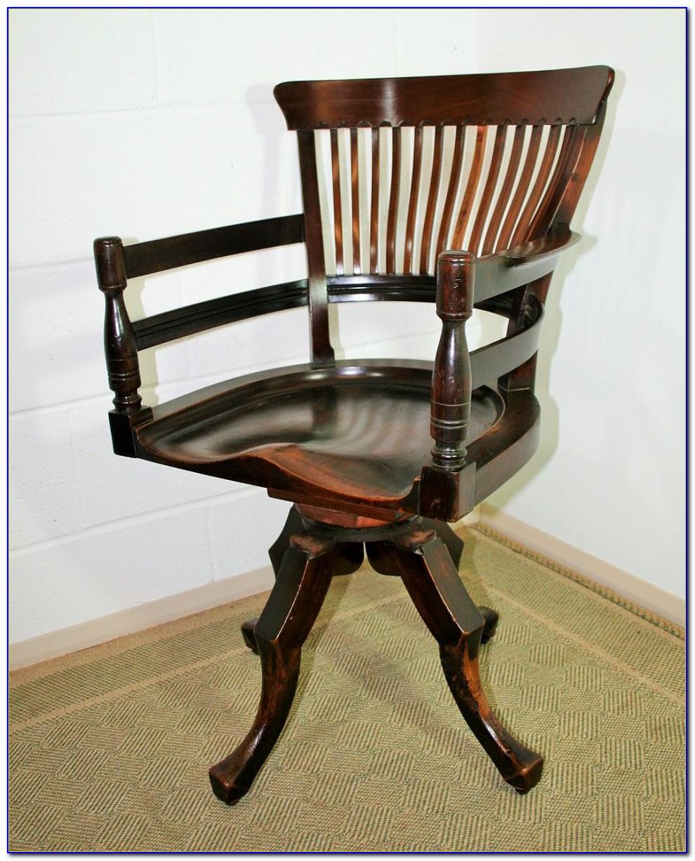 Antique School Desk Swivel Chair